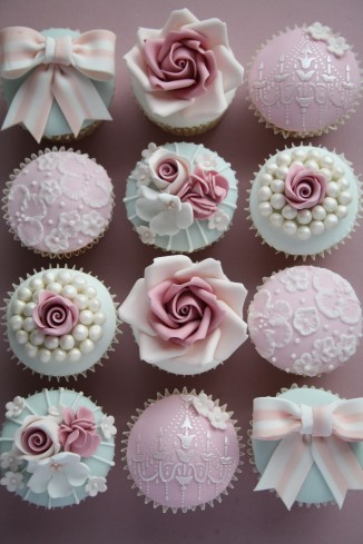 You get to take beautiful vintage cupcakes like these home!